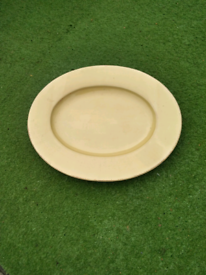 Large meat plate oval