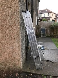 Aluminium treble ladders