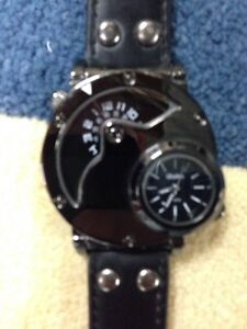 Watch-Stainless Steel *New* Gunmetal Oversized *BEST OFFER!*