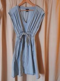 ' H & M' bleached denim dress.