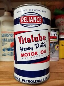 Reliance Motor Oil Tin Can