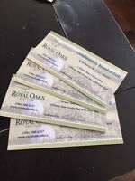 4 royal oaks passes