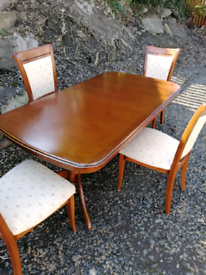 G plan dining table & chairs for sale  Kelso, Scottish Borders
