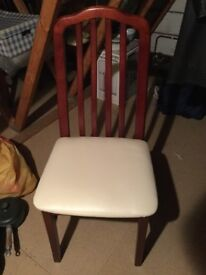 6 Dining chairs.