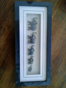 Elephant Shadow Box Style Picture PPU
