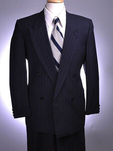 Giorgio Armani Navy pinstripe suit excellent  Made in italy