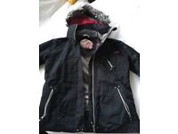 SKI JACKET - LADIES BLACK SURFANIC SKI JACKET