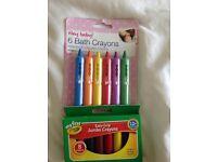 Crayola crayons and bath crayons