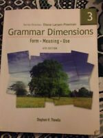 Grammar Dimensions 3 4th Edition
