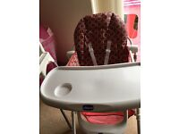 Chicco Pocket Lunch Highchair Red Wave