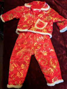 Girl Chinese outfit - size 2 WARM/padded