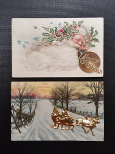 Vintage Christmas Postcards - Santa Claus 1900's