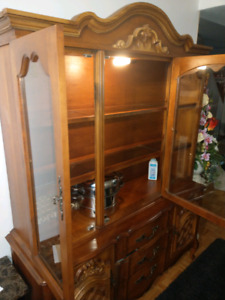 Solid wood china cabinet  $90.00