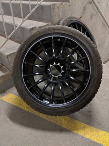 BMW WRC Mags 18in and zLINE tires 225/40R18 fit e46 e90 OBO