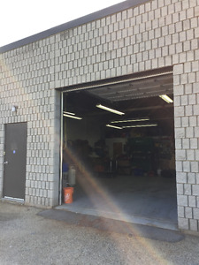 Shop/warehouse space - month-to-month lease