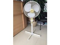 Standing fan with 3 settings