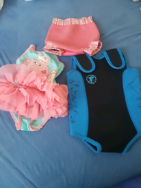 Swimming costumes bundle with new towel
