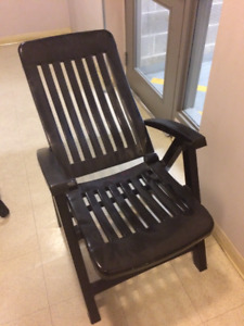 Black Plastic Patio Chair