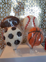 Sports themed Chocolate Lollipops