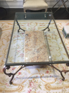1b3da133c257 Elte Marble And Rod Iron Coffee Table
