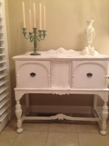 French White Antique Sideboard