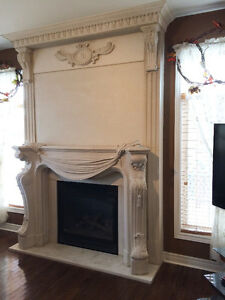 FIREPLACE / CAST STONE MANTEL UP TO 60% OFF