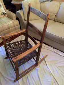 Unique hand made wooden rocking chair