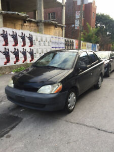 2002 Toyota Echo Type- S Black Sedan