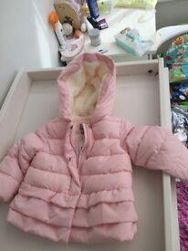 NEW BABY GAP PINK FLEECE LINED COAT - MAKE ME AN OFFER!!!!