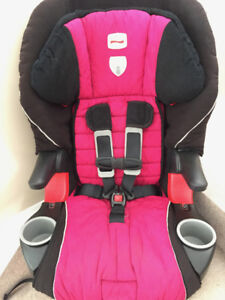 pink britax frontier 5 point to booster seat
