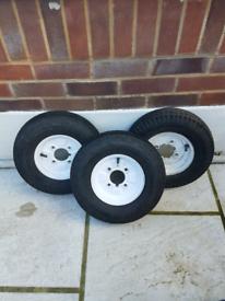 Trailer wheels x 3