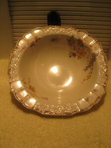 "BEAUTIFUL OLD VINTAGE ENGLISH-MADE ""MYOTT"" CHINA SERVING BOWL"