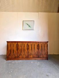 Danish Rosewood Mid Century Sideboard by Christian Linneberg