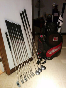 Man's right handed Golf set 3,4,5,9,7,8,9,PW