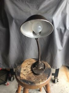 INDUSTRIAL GOOSE NECK DESK LAMP