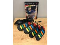 Playstation PS2 Buzz Controllers and Buzz the big Quiz game