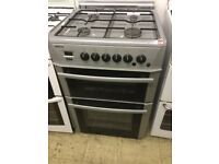 Beko full size Silver gas cooker, 600mm