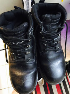 Men Leather Work boots Size 10