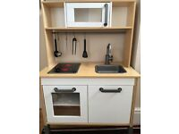 Wooden play kitchen and accessories - excellent condition