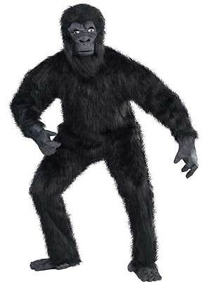 Adult Deluxe Gorilla Guy Costume Mens Jungle Animal Fancy Dress Outfit New