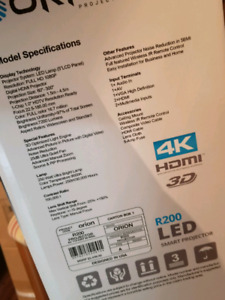 4k smart projector with screen