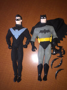 "12"" Batman and Nightwing Figures"