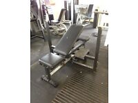 Incline and flat ADJUSTABLE commercial level bench press !!!!!