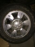 Gmc factory Chrome rims and tires for 2011 Sierra 1500