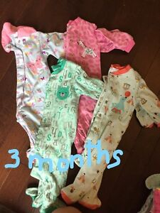Pekkle sleepers for girls size 3 and 6 months