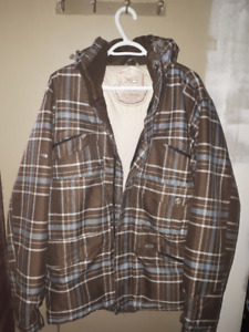 Brown Plaid Ripzone Men's Winter Jacket