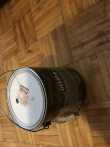 """Behr """"superior blue"""" paint and primer in one, semigloss enamel"""