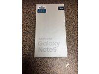 Brand new boxed Samsung galaxy note 5 32gb unlocked