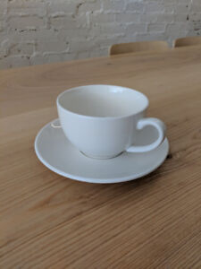 Cafe Tea - Latte Cups and Saucers - Commercial Grade - For Sale!