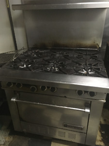 6 BURNER RANGE w/SHELF